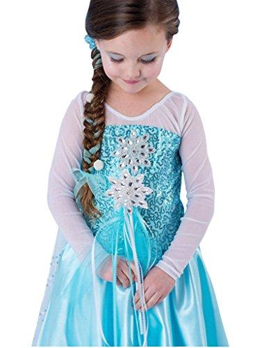 d9c49f70f MissFox Frozen Vestidos Niñas Fiesta Disfraces De Princesas 110CM Como  Cuadro