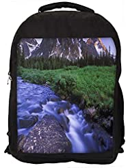 """Snoogg Flwoing Water Along The Garden Casual Laptop Backpak Fits All 15 - 15.6"""" Inch Laptops"""