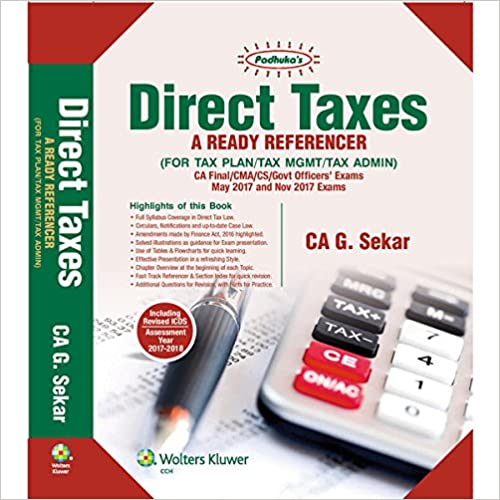 Direct Taxes book for CA Final
