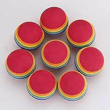 Generic 100Pcs/Lot Super Q Rainbow Toy Ball Small Dog Cat Pet Eva Juggling Ball Toys Golf Practice Balls 35Mm