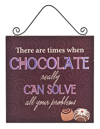 Inspirational Funny Chocolate Can Solve Problems Sign Contemporary Kitchen Plaque