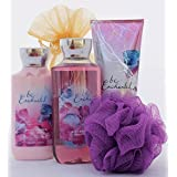Be Enchanted Valentines Day Gift Set - Bath And Body Works - Shower Gel Triple Body Moisture Cream Lotion And...