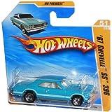 67 Chevelle Ss 396 (Metalflake Aqua) * 2010 Hot Wheels #051/214, Hw Premiere #51/52, 1:64 Scale Car On Short Card