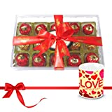 Nicely Wrapped Choco Collection With Love Mug - Chocholik Luxury Chocolates