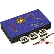 Rakhi Gifts - 6 Chocolate Gift Box - Rakhi With Chocolates