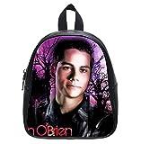 Custom Dylan O'brien Teen Wolf Black Backpack Kid's School Bag Student Shoulder Bag (Small)