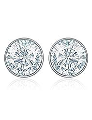 Mahi Rhodium Plated White Bolt Earrings Made With Swarovski Elements For Women ER1104083RWhi