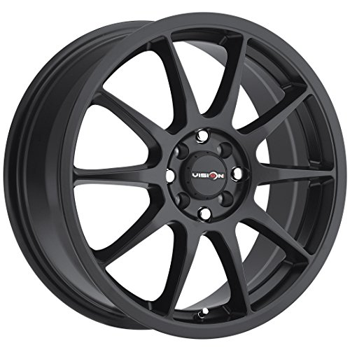 Vision Venom 16 Black Wheel / Rim 4×100 & 4×4.5 with a 38mm Offset and a 73.1 Hub Bore. Partnumber 425-6703MB38