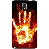 For Samsung Galaxy Note 3 :: Samsung Galaxy Note III :: Samsung Galaxy Note 3 N9002 :: Samsung Galaxy Note N9000 N9005 Fire Hand ( Fire Hand, Hand, Burning Hand, Fire ) Printed Designer Back Case Cover By FashionCops