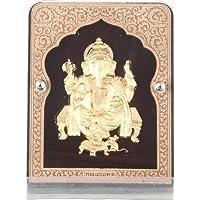 Siri Creations 24kt Gold Foil Ganesha Frame Showpiece - 9 Cm