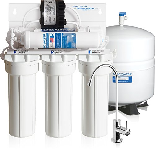 APEC Water - Top Tier, Premium Quality - Built in USA - Ultra Safe & High-Efficiency Permeate Pumped Reverse Osmosis Water Filter System for Low Water Pressure Homes (RO-PERM)