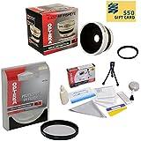 0.43x High Definition II Wide Angle Panoramic Macro Fisheye Lens For Canon VIXIA HF R20 HF R21 HF R200 Includes...