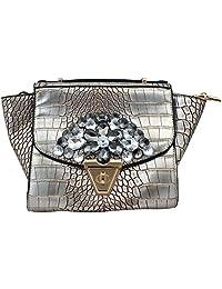 Super Drool Grey P.U. Sling Bag