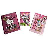 Hello Kitty Budding Artist Bundle - 3 Items: 1 Hello Kitty Stationery Kit, 1 Book Of Hello Kitty Sti