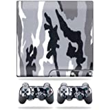 Mightyskins Protective Vinyl Skin Decal Cover For Sony Playstation 3 Ps3 Slim Skins + 2 Controller Skins Sticker... - B00701PMOQ