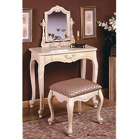 HOP Vanity & Bench - Antique White