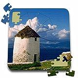 Danita Delimont - Windmills - Greece, Mykonos, Windmill looks over azure sea - EU12 RER0004 - Ric Ergenbright - 10x10 Inch Puzzle (pzl_81852_2)