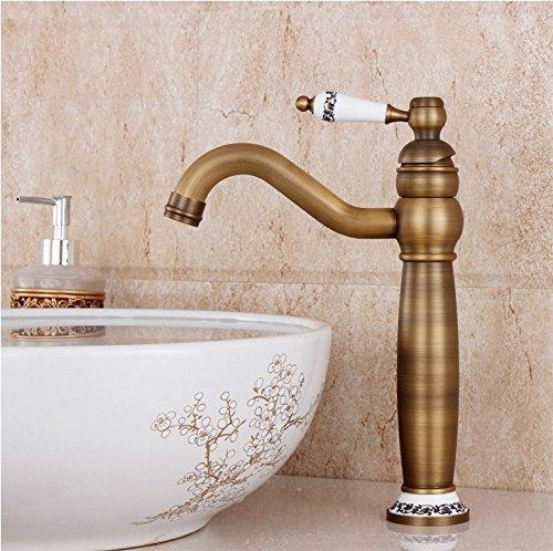 Hiendure® Waschbecken Wasserhahn Messing antik einzigen Handgriff centerset Wasserhahn(Antique Brass) von Hiendure