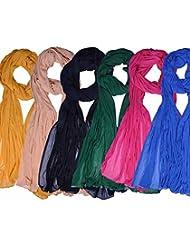 Famacart Women's Ethnicwear Combo Pack Of 6 Chiffon Dupattas