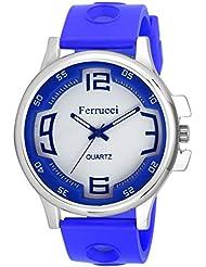 Agile Analog White Dial Blue Strap Wrist Watch For - Boys, Men