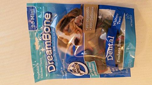 DreamBone Vegetable and Chicken Dental Mini Dog Chews, 20-Co