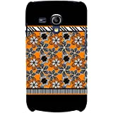 For Samsung Galaxy S3 Mini I8190 :: Samsung I8190 Galaxy S III Mini :: Samsung I8190N Galaxy S III Mini Floral Pattern ( Floral Background, Flower, Many Flower, Black Background ) Printed Designer Back Case Cover By FashionCops