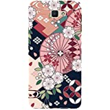Flower Pattern Hard Polycarbonate Designer Back Case Cover For Samsung Galaxy J7 Prime :: Samsung Galaxy On Nxt