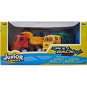 Junior Racers Pull Back Power Dump Truck & Garbage Truck