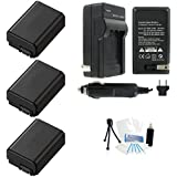 3-Pack NP-FW50 High-Capacity Replacement Batteries With Rapid Travel Charger For Select Sony Digital Cameras. UltraPro Bundle Includes: Camera Cleaning Kit Screen Protector Mini Travel Tripod