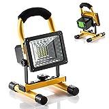 GRDE® Faros de trabajo 15W Foco LED Recargable Iluminacion Exterior del Jardín al Aire Libre, Patio, Terraza Portátil Foco Protector