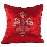Rutbaa Red Velvet Cushion Cover - Set Of 2