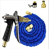 25/75/100FT Expanding Flexible Garden Water Hose With High Pressure Spray Nozzle