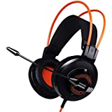 GranVela G925 3.5mm Wired Stereo Lightweight Headphones Over-the-Ear Gaming Headset With Microphone LED Lighting... - B01BY20M78