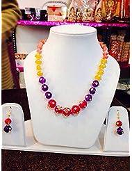 Artificial Fancy Jewellery Beaded Necklace Earring Set