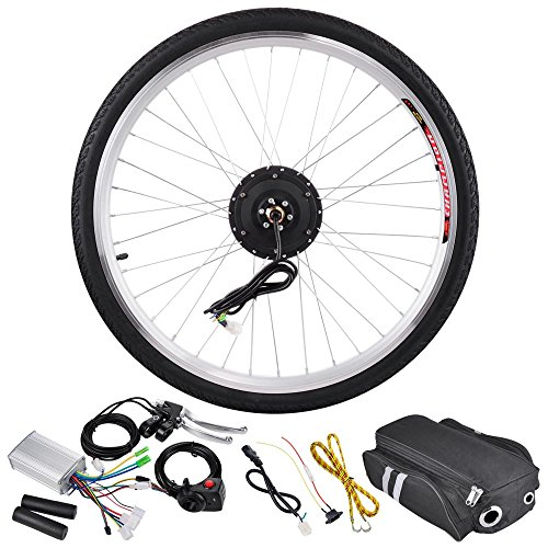 AW 26″x1.75″ Front Wheel Electric Bicycle Motor Kit 36V 250W Pro Light Motor Cycling w/ Dual Mode Controller
