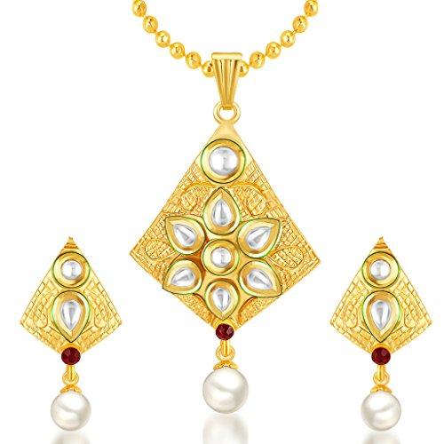 Sukkhi Exotic Gold Plated Kundan Pendant Set For Women