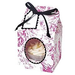 Meri Meri Pink Toile Small Cupcake Box Kit