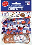 Amscan Cool Major League Baseball Party Foil Confetti Value Pack, 1.2 oz, Blue/Red/White