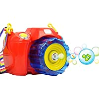 Say Cheese Camera Shape Bubble Gun Suit Children Electric Bubble Gun Light And Sound Bubble
