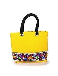 Arisha Kreation Co Women Hand Bag (Yellow)