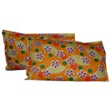 24 HOURS Cotton Pillow Cover (set Of 2) - 45 Cms X 68 Cms, Orange