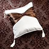 Lillian Rose-Brown Bow Ring Pillow