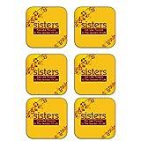 MeSleep Love Sister Wooden Coaster-Set Of 6 - B013LESNC8