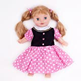 "Pink/Black Polka Dots Dress Fits 18"" American Girl Doll Clothes"