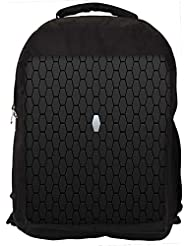 """Snoogg White Block In Grey Design Casual Laptop Backpak Fits All 15 - 15.6"""" Inch Laptops"""