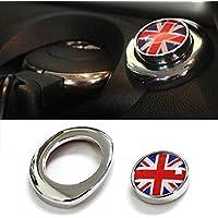 (1) Classic Red/Blue UK Union Jack Design Engine Start Push Start Cap Cover For 2nd Gen MINI Cooper