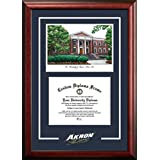 "Campus Images ""University Of Akron Zips Spirit Graduate Diploma"" Frame With Lithograph Print, 8.5"" X 11"""