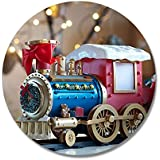 FurnishFantasy Train Printed Coasters - Set Of 6 - For Kitchen / Dinning Ware