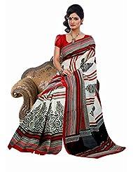 Lineysha Boutique Printed Art Silk Sari