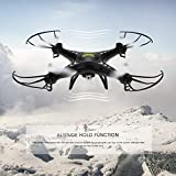 Holy Stone HS110W FPV Drone with 720P HD Live Video Wifi Camera 2.4GHz 4CH 6-Axis Gyro RC Quadcopter with Altitude Hold, Gravity Sensor and Headless Mode Function RTF, Color Black